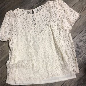 Abercrombie & Finch lace shirt with attached tank